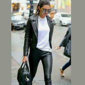 Freja+MOTHER ASO Kendell Jenner Faux Leather Pants